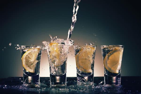 Stort udvalg af drinks med vodka